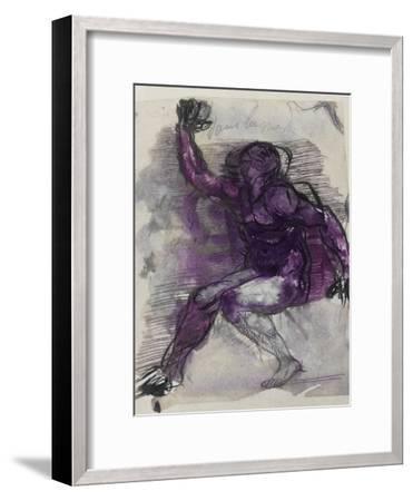 Le Dessins de Auguste Rodin: Plate No.55, 19th Century-Auguste Rodin-Framed Giclee Print