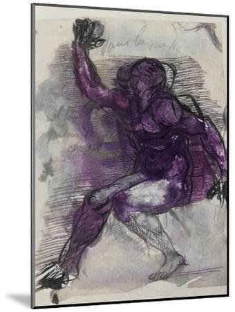 Le Dessins de Auguste Rodin: Plate No.55, 19th Century-Auguste Rodin-Mounted Giclee Print