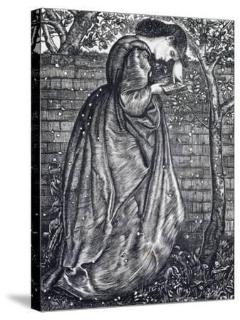 Young Woman Leaning Against a Wall-Edward Burne-Jones-Stretched Canvas Print
