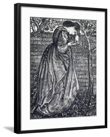 Young Woman Leaning Against a Wall-Edward Burne-Jones-Framed Giclee Print