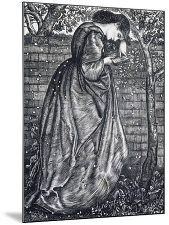 Young Woman Leaning Against a Wall-Edward Burne-Jones-Mounted Giclee Print
