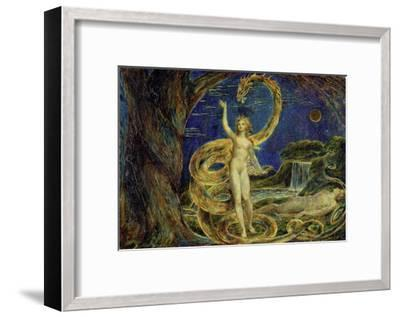 Eve Tempted by the Serpent-William Blake-Framed Giclee Print