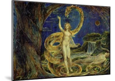 Eve Tempted by the Serpent-William Blake-Mounted Giclee Print