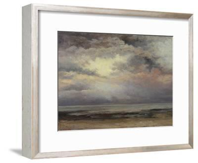 L'Immensite, c.1869-Gustave Courbet-Framed Giclee Print