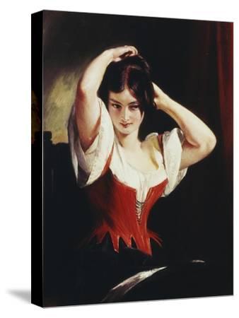 Dulcinea Del Toboso, the Peasant Mistress of Don Quixote, c.1839-Charles Robert Leslie-Stretched Canvas Print