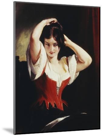Dulcinea Del Toboso, the Peasant Mistress of Don Quixote, c.1839-Charles Robert Leslie-Mounted Giclee Print