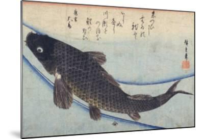 Print of Carp in a Stream-Ando Hiroshige-Mounted Giclee Print