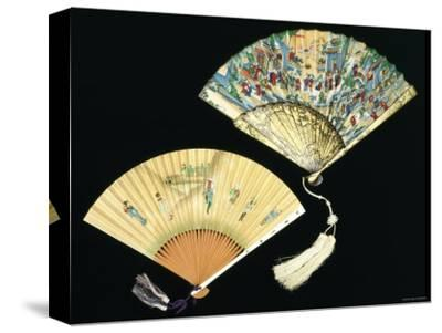 Japanese and Chinese Silk Fans, c.1850-70--Stretched Canvas Print