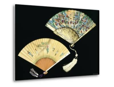 Japanese and Chinese Silk Fans, c.1850-70--Metal Print
