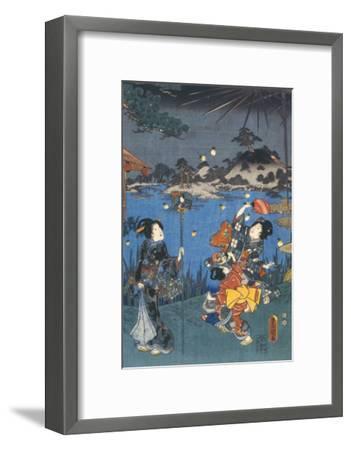 Firefly Hunting-Utagawa Kunisada-Framed Giclee Print