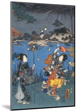 Firefly Hunting-Utagawa Kunisada-Mounted Giclee Print