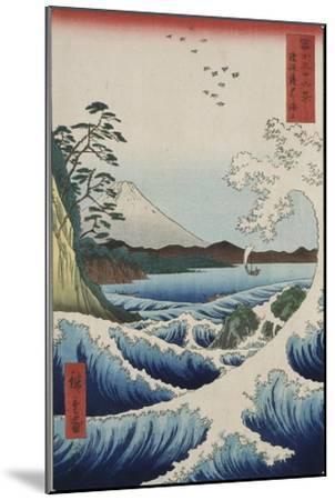 The Sea at Satta in Suruga Province-Ando Hiroshige-Mounted Giclee Print