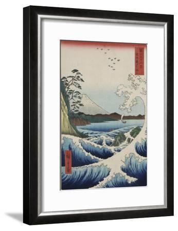 The Sea at Satta in Suruga Province-Ando Hiroshige-Framed Giclee Print