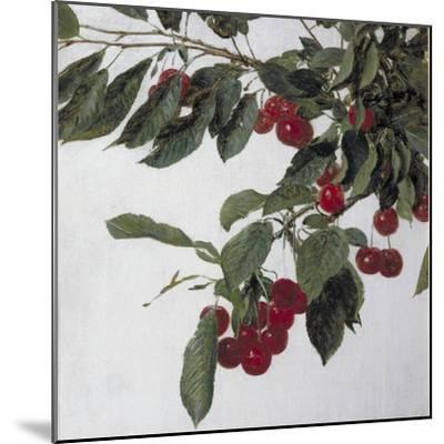 Cherries, c.1883-Henri Fantin-Latour-Mounted Giclee Print