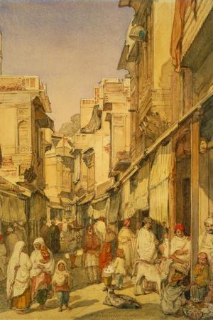 Street in Lahore, Punjab, India-William Carpenter-Stretched Canvas Print