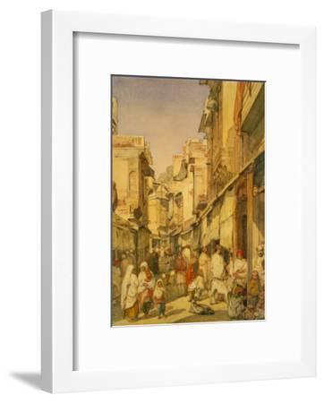 Street in Lahore, Punjab, India-William Carpenter-Framed Giclee Print