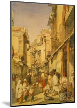 Street in Lahore, Punjab, India-William Carpenter-Mounted Giclee Print