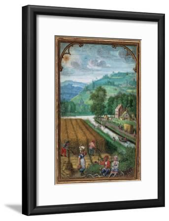 September Leaf from a Calender Book of Hours-Simon Benninck-Framed Giclee Print