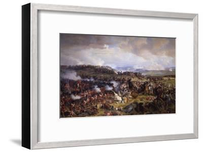 The Battle of Waterloo: British Squares Receiving the Charge of the French Cuirassiers-Felix Philippoteaux-Framed Giclee Print