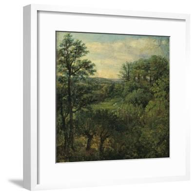 Valley Scene with Trees-John Constable-Framed Giclee Print