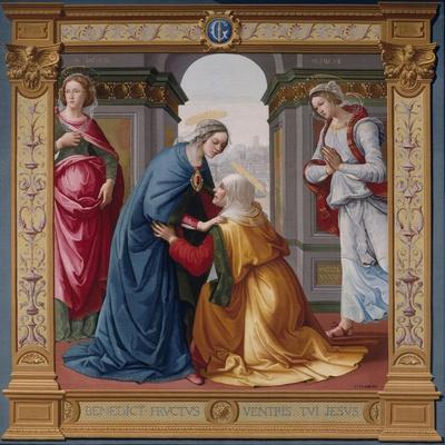 The Visitation Tapestry--Stretched Canvas Print