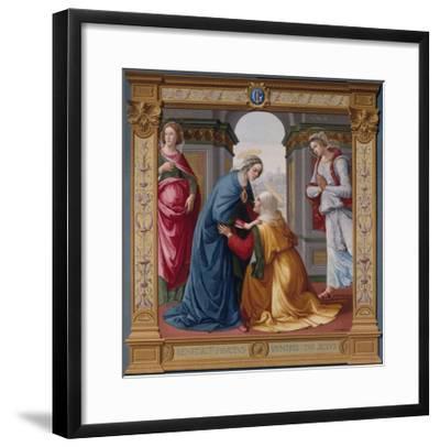 The Visitation Tapestry--Framed Giclee Print