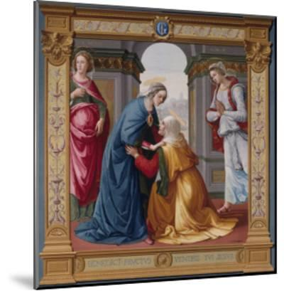 The Visitation Tapestry--Mounted Giclee Print