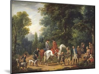 Landscape with Huntsmen and Beggars-Johann Andreas Herrlein-Mounted Giclee Print
