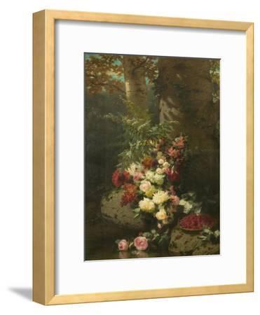 Flowers and Fruit-Jean Baptiste Claude Robie-Framed Giclee Print