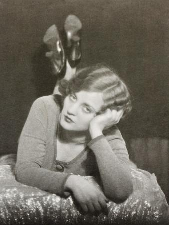 Tallulah Bankhead, Actress, One of a Diptych-Curtis Moffat-Stretched Canvas Print