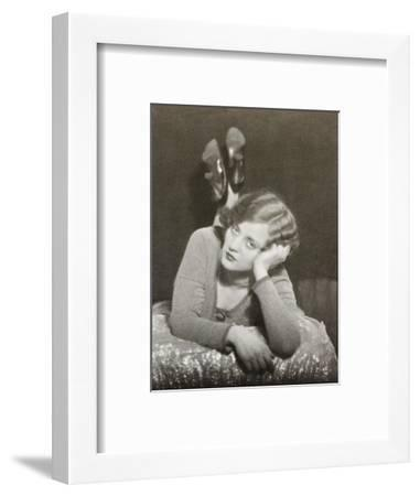 Tallulah Bankhead, Actress, One of a Diptych-Curtis Moffat-Framed Premium Giclee Print