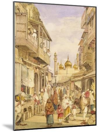 Crowded Street Scene in Lahore, India-William Carpenter-Mounted Giclee Print