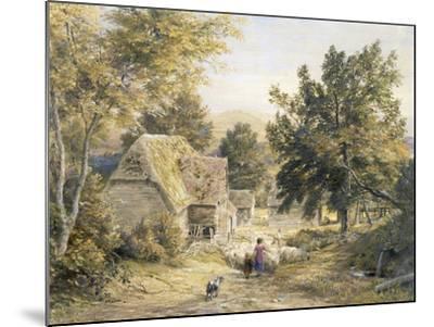 Farm Yard Near Princes Risborough, Buckinghamshire, England-Samuel Palmer-Mounted Giclee Print