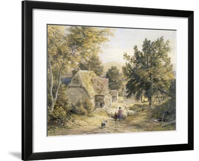 Farm Yard Near Princes Risborough, Buckinghamshire, England-Samuel Palmer-Framed Giclee Print