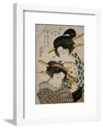 Teahouse Meeting-Keisai Eisen-Framed Giclee Print
