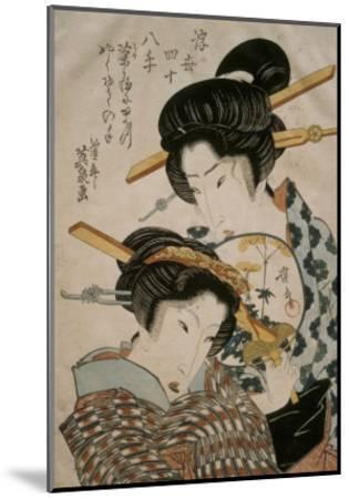 Teahouse Meeting-Keisai Eisen-Mounted Giclee Print