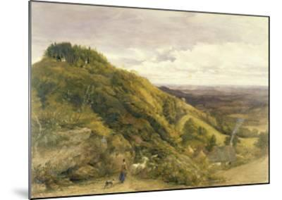 Landscape with a Woman Driving Sheep-Samuel Palmer-Mounted Giclee Print