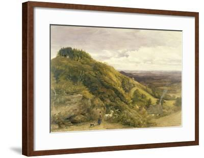 Landscape with a Woman Driving Sheep-Samuel Palmer-Framed Giclee Print