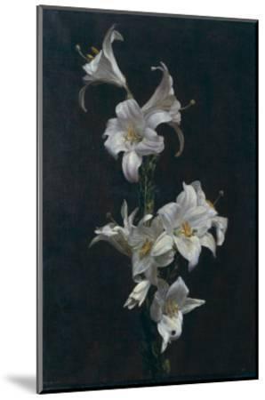 White Lilies, c.1883-Henri Fantin-Latour-Mounted Giclee Print