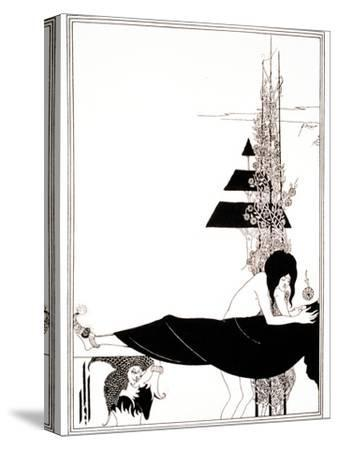 A Platonic Lament, Plate VII, 19th Century-Aubrey Beardsley-Stretched Canvas Print