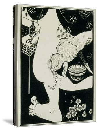 Birth from the Calf of the Leg, 19th Century-Aubrey Beardsley-Stretched Canvas Print