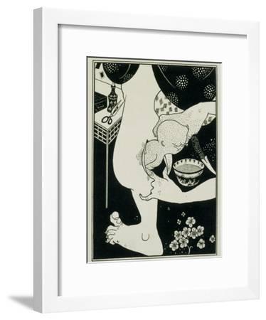 Birth from the Calf of the Leg, 19th Century-Aubrey Beardsley-Framed Giclee Print