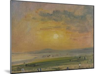 Shoreham Bay, Evening Sunset-John Constable-Mounted Giclee Print
