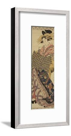 Young Woman in Traditional Highly Decorative Japanese Costume-Katsukawa Shunsen-Framed Giclee Print