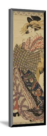Young Woman in Traditional Highly Decorative Japanese Costume-Katsukawa Shunsen-Mounted Giclee Print