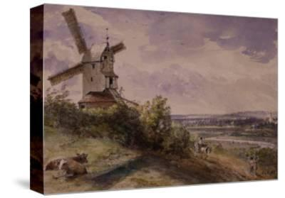 Windmill at Stoke, Near Ipswich-John Constable-Stretched Canvas Print