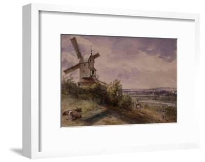 Windmill at Stoke, Near Ipswich-John Constable-Framed Giclee Print