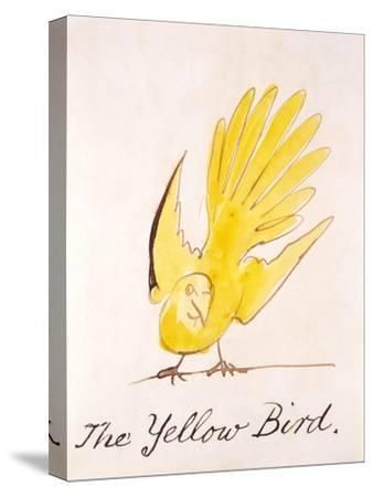 Yellow Bird-Edward Lear-Stretched Canvas Print
