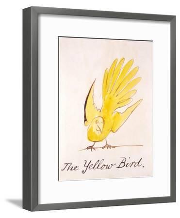 Yellow Bird-Edward Lear-Framed Giclee Print
