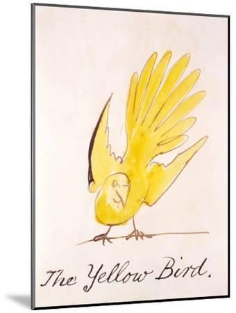 Yellow Bird-Edward Lear-Mounted Giclee Print